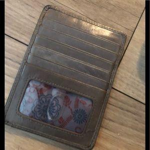 Grey hobo wallet